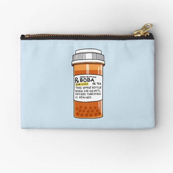 Boba Pills Zipper Pouch