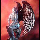 Robot Angel Painting 030 by Ian Sokoliwski