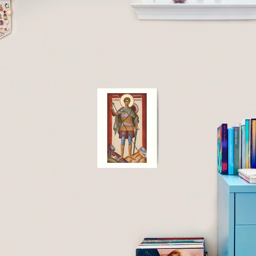 St Dimitrios Loumpardiaris Art Print