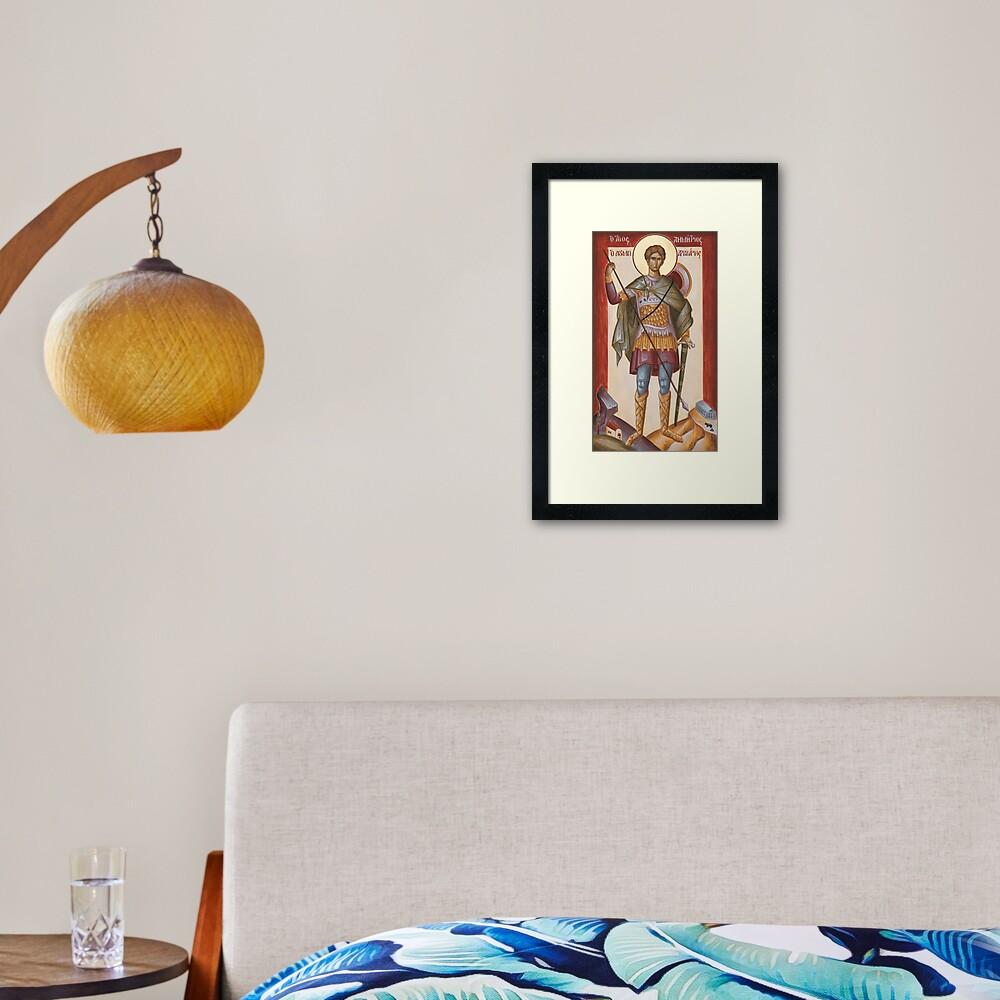 St Dimitrios Loumpardiaris Framed Art Print