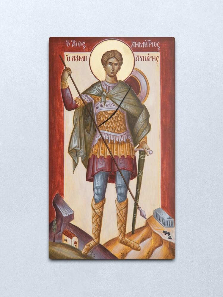 Alternate view of St Dimitrios Loumpardiaris Metal Print