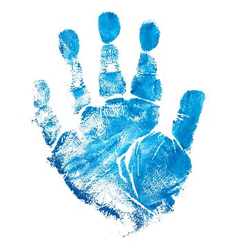 blue palmprint impression by lisenok