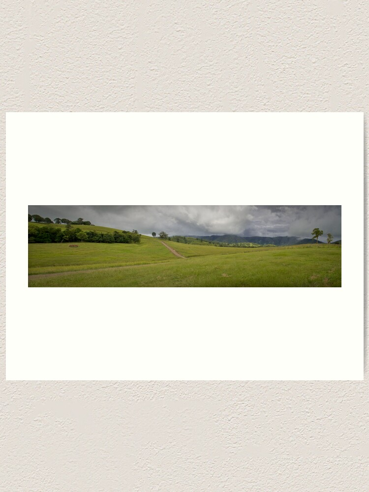 Alternate view of Green Hills Art Print