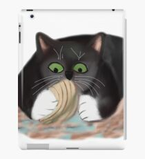 Unhappy Clam at High Tide Clasped by Kitten iPad Case/Skin