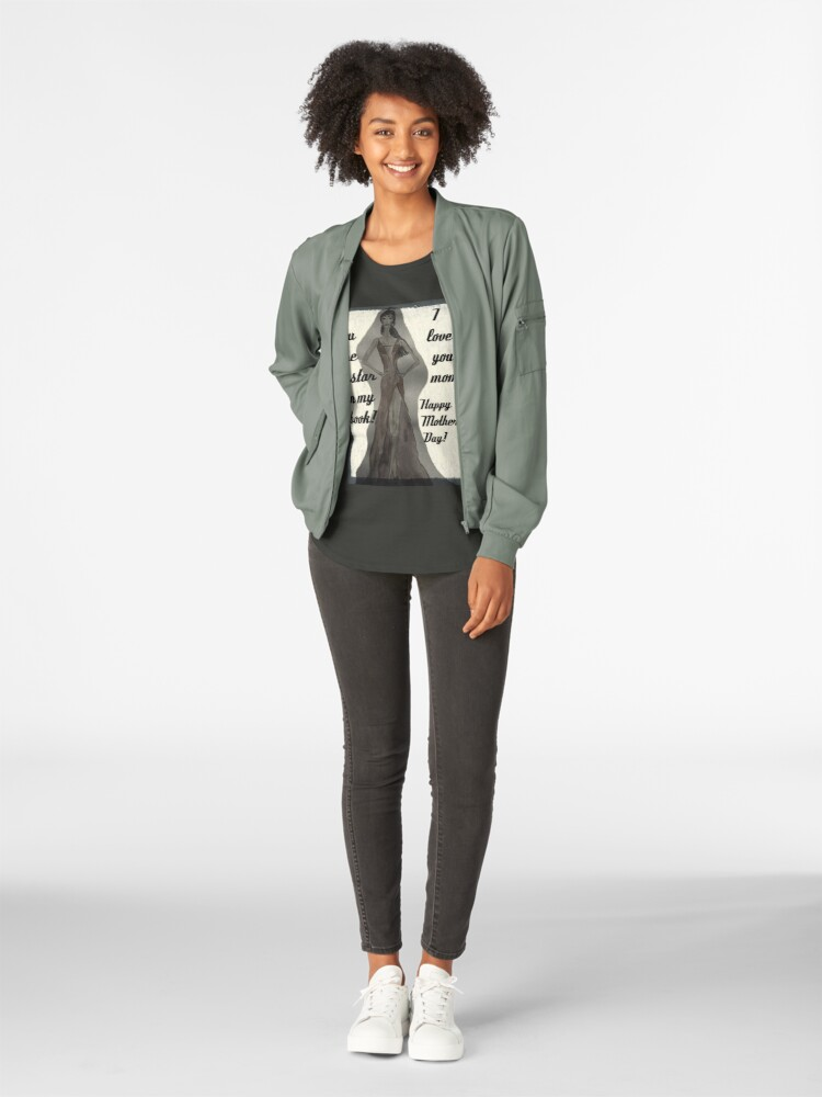 Alternate view of Happy Mother's Day! I love you mom! Fashion Illustration Premium Scoop T-Shirt