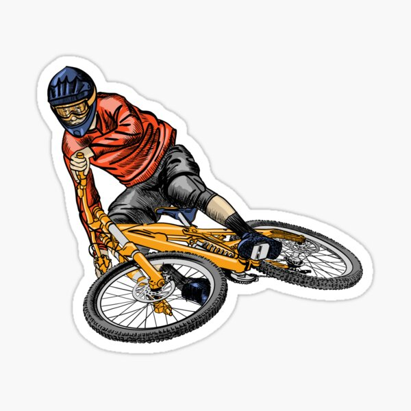 mountain bike Sticker