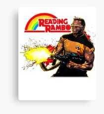 Reading Rambo T-Shirt Canvas Print