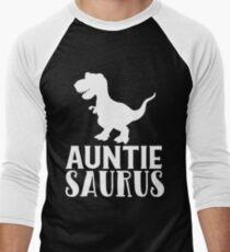 Auntie Saurus Matching Dinosaur Family Gift for Aunt t-shirts Men's Baseball ¾ T-Shirt