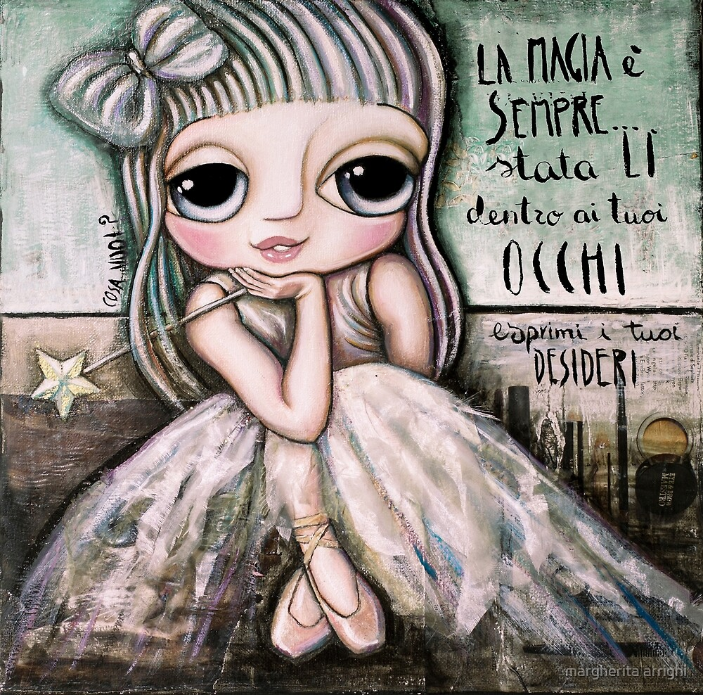 Fairy white hair and, big eyes art by Margherita Arrighi by margherita arrighi