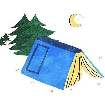 Reading and Camping by goodgoodgoofboy