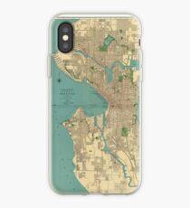 Vinilo o funda para iPhone Mapa vintage de Seattle