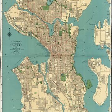 Seattle Vintage Map by pckup