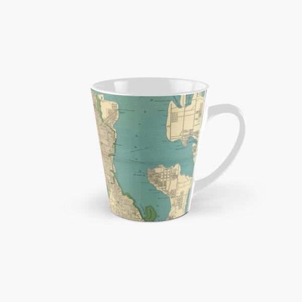 Seattle Vintage Map   Full Color Tall Mug