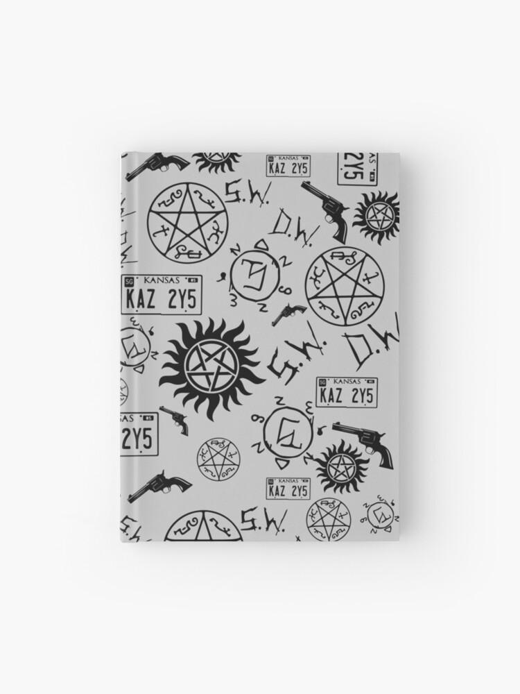 Supernatural Symbols Hardcover Journal By Mathias09 Redbubble