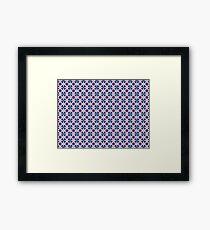 Blue Clover Digital Pattern Design Framed Print