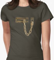 Door latch Women's Fitted T-Shirt