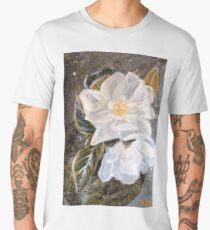 WHITE MAGNOLIA by H.Lin Men's Premium T-Shirt