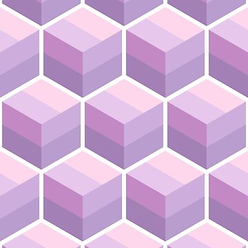 Geometric Pattern: Cube Stripe: Purple by redwolfoz