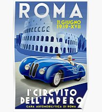 """ROMA VINTAGE GRAND PRIX"" Auto-Renndruck Poster"