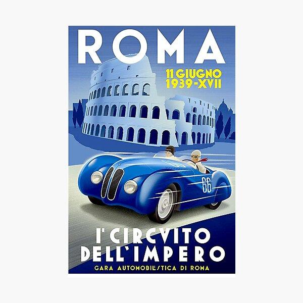 """ROMA VINTAGE GRAND PRIX"" Auto Racing Print Photographic Print"