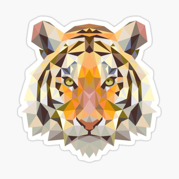 Triangle Tiger Animal Asian Decor Sticker