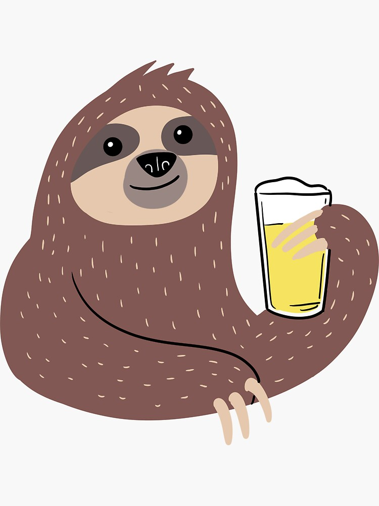 Beer Sloth by Kittyworks
