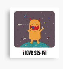 i love sci-fi Canvas Print