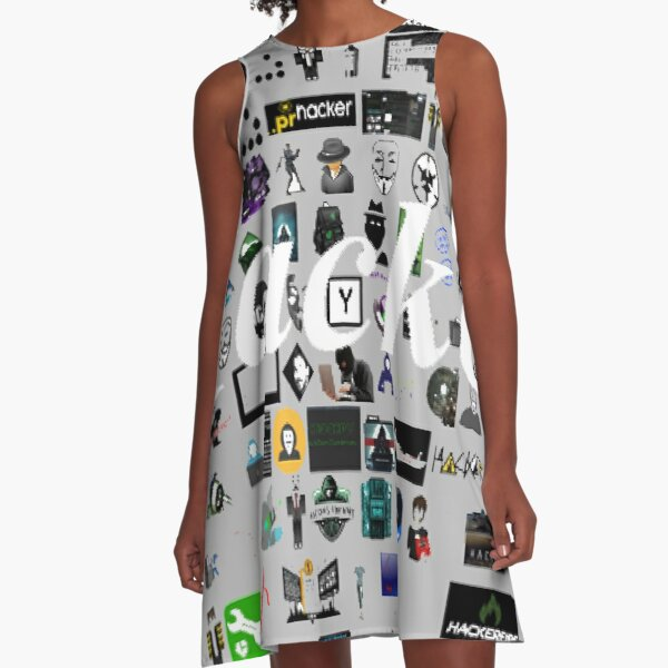 Pattern, design, tracery, weave, drawing, figure, picture, illustration A-Line Dress