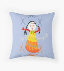 Ethnic Doll by Mimie  Throw Pillow