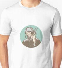 World War Two Soldier American Talk Radio Circle T-Shirt