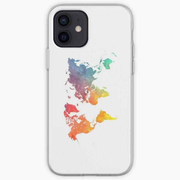 Map of the world colored iPhone Soft Case