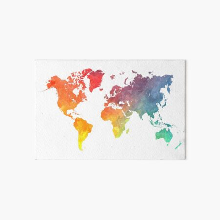 Map of the world colored Art Board Print