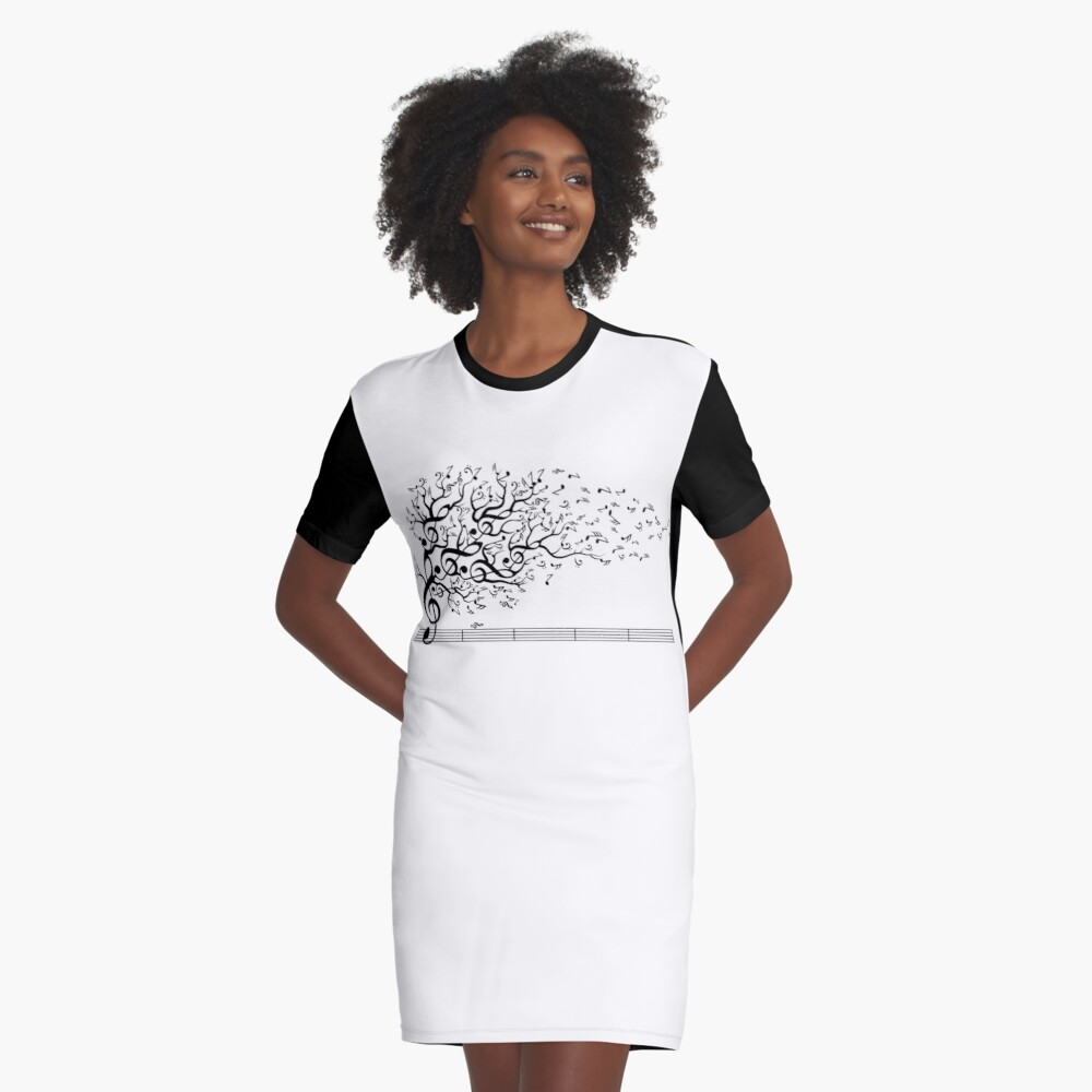 The Sound of Nature In Motion Graphic T-Shirt Dress
