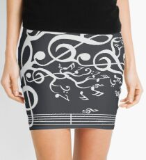 The Sound of Nature In Motion - White Mini Skirt