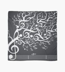 The Sound of Nature In Motion - White Scarf
