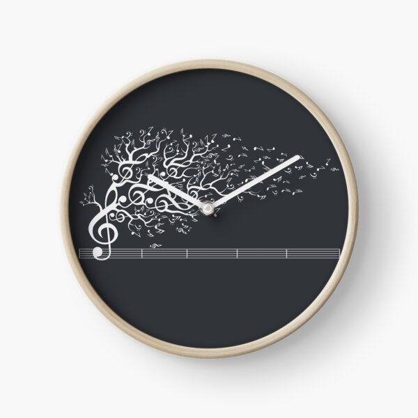 The Sound of Nature In Motion - White Clock