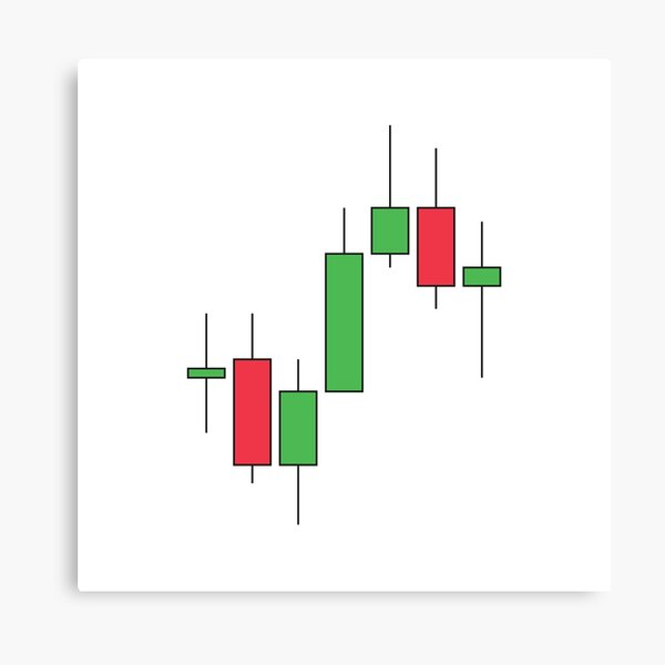 stock chart, japanese candles. currencies exchange market trading Canvas Print