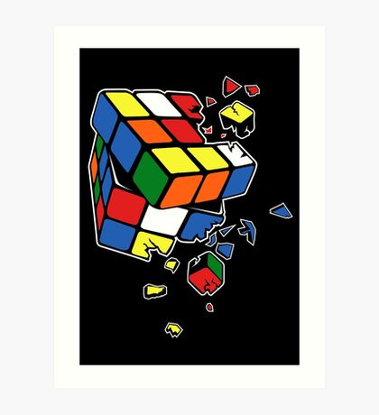 Exploding Cube Art Print