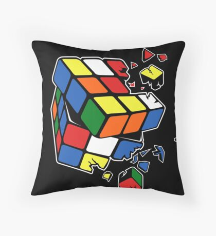 Exploding Cube Throw Pillow