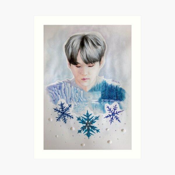 BTS - Min Yoongi & Winter Art Print