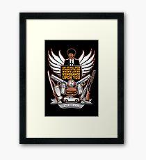 Pulp Heraldry Framed Print