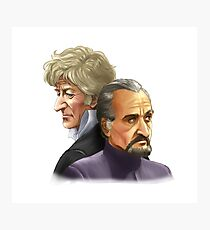 The Doctor and the Master Photographic Print