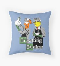 Breaking Beaker Throw Pillow
