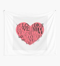 Heart background Wall Tapestry