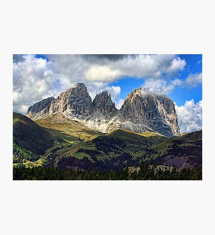 Sassolungo Group, Dolomites, Italy Photographic Print