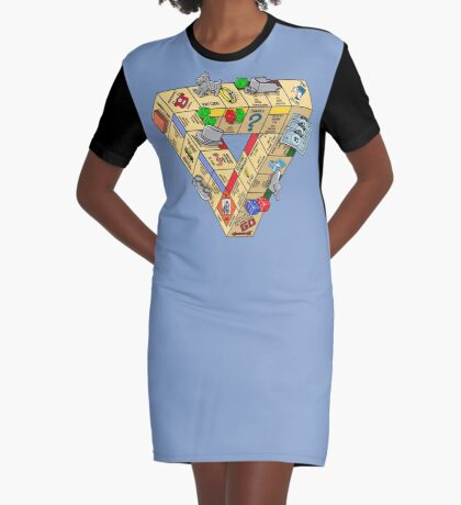 The Impossible Board Game Graphic T-Shirt Dress