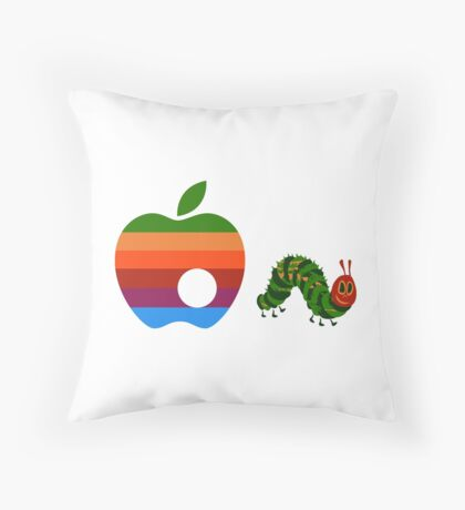 Very Hungry for Apple Throw Pillow