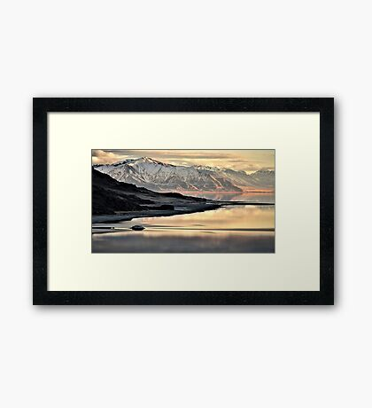 Sunlit Mountain  Framed Print