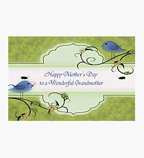 Happy Mother's Day To A Wonderful Grandmother Photographic Print
