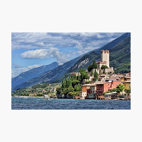 Castello Scaligeri, Malcesine, Lake Garda Photographic Print